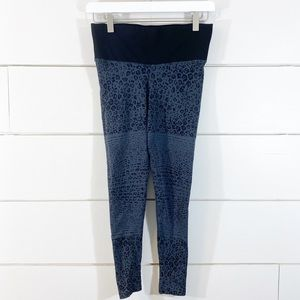 soulcycle x NUX Cheetah Striped Workout Leggings
